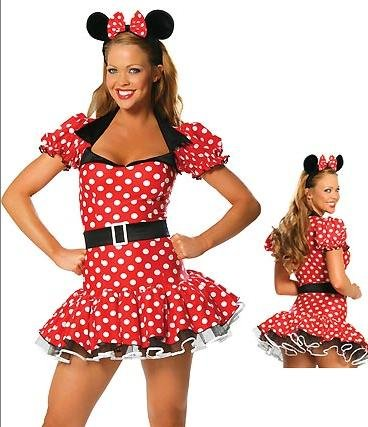 Minnie Mouse Style Fancy Dress with Headband
