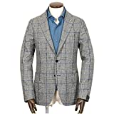 (タリアトーレ)TAGLIATORE Super100'sウールフランネルチェック2Bジャケット『MONTECARLO』 (グレー×ブルー)メンズ