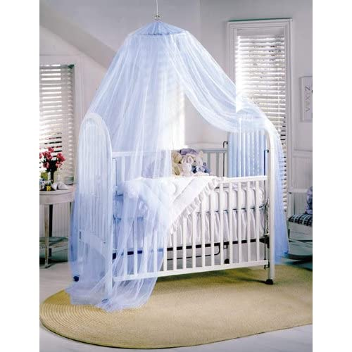 blue baby canopy mosquito net for cot