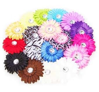 Ema Jane - Large Gerber Daisy Flower Hair Clips (16 Pack)