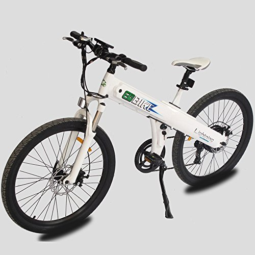 E-go-26-Inch-White-Electric-Bicycle-City-E-Bike-48v-500w-Moped-Pedal-Assist