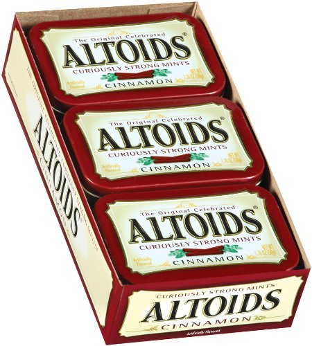 Altoids Curiously Strong Mints, Cinnamon, 1.76-Ounce Tins (Pack of 12)