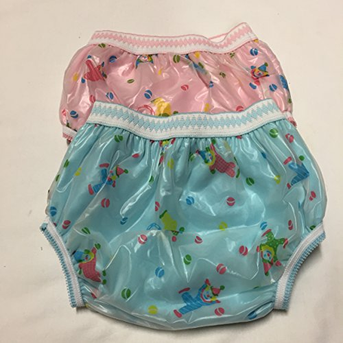 Cloth Diaper Potty Training Kids Underpants Pull up Cotton Plastic Panty Mess Free Waterproof Reusable Set of Two - 1