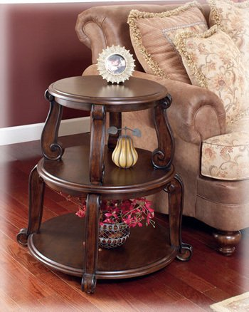 Cheap Brookfield Round Tiered End Table (T496-2)