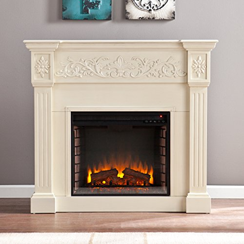 SEI Calvert Electric Fireplace, Ivory