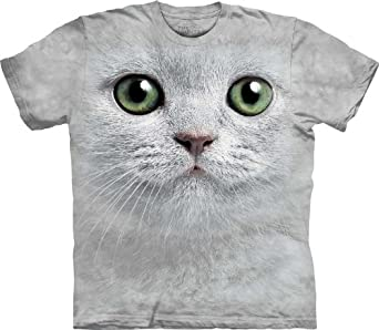 The Mountain Green Eyes Cat Face Adult T-shirt S