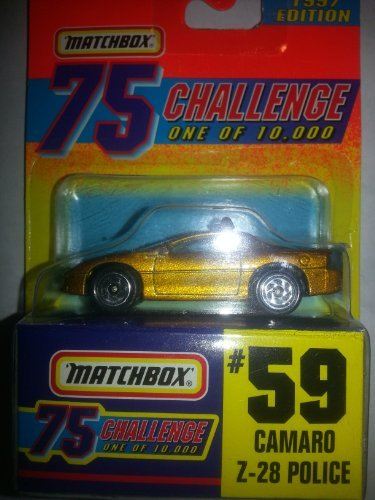 Matchbox #59 Camaro Z-28 Police 75 Challenge One of 10,000 - 1