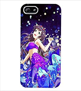 ColourCraft Beautiful Girl Design Back Case Cover for APPLE IPHONE 5S