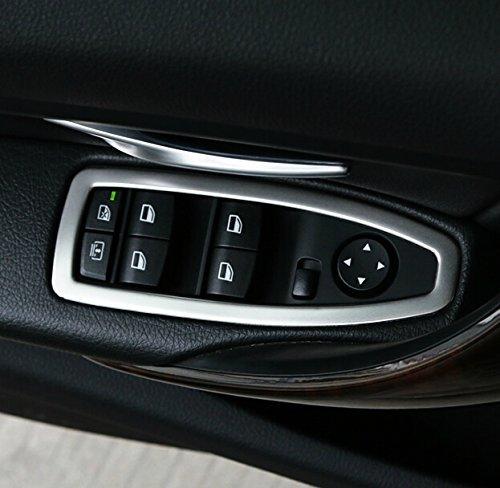 9 MOON - Decorazione in acciaio INOX per pulsanti alzacristalli, per BMW 3 Serie F30 F35 316i 320Li 320