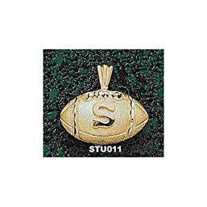 Stanford University S Football - 14K Gold by Logo Art