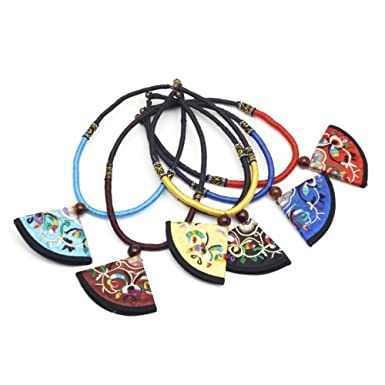 Ornate Fan Necklace (Assorted)||RF10F