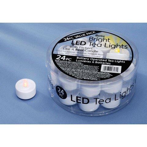 Bulk Buy: Darice Diy Crafts Led Tea Lights White 24 Pieces (8-Pack) 6204-69