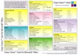 img - for Crazy Colour Quick Reference Card for Microsoft Office book / textbook / text book