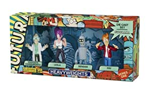 Rocket USA - Futurama série 1 pack 4 figurines métal 8 cm