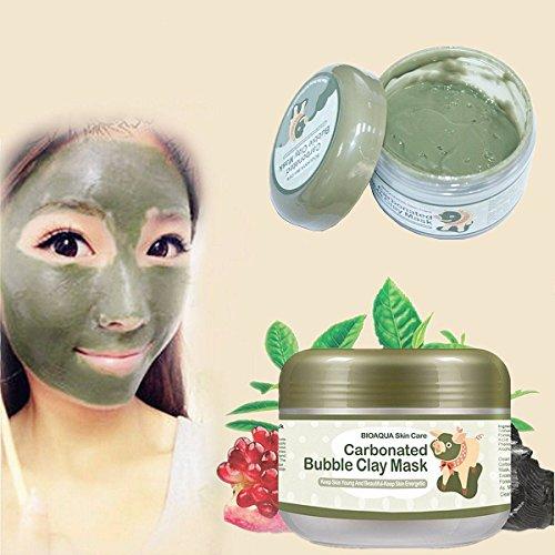 LuckyFine Bulles d'Oxygène Carbonate Masque de Boue Nettoyage au Profondeur Blanchiment Hydratant 100g