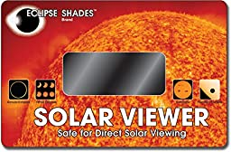 Rainbow Symphony Solar Viewer - Optical Coated Glass for Quality Viewing of Solar Eclipses and Sunspots