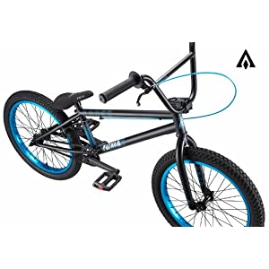 Amber Fathom Matte Black w/ Hot Blue BMX Bike