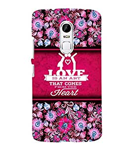 Love Is An Art Cute Fashion 3D Hard Polycarbonate Designer Back Case Cover for Lenovo Vibe X3