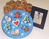 Scott's Cakes 1 lb. Cinnamon Apple Butter Cookies in a Christmas Cookie Tin with Hand Painted Theorem