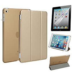 iPad Mini 4 Case + Screen Protector,Smart Cover with Built in Translucent Hybrid Back Cover ,Corner Protection Ultra Slim Auto Wake Up Sleep Function for iPad Mini 4 Retina Released on 2015