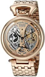 Stuhrling Original Men's 797.03 Legacy Analog Display Automatic Self Wind Rose Gold Watch