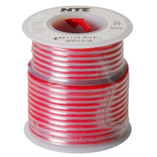 Nte Stranded 16 Awg Hook-Up Wire Red 25 Ft.