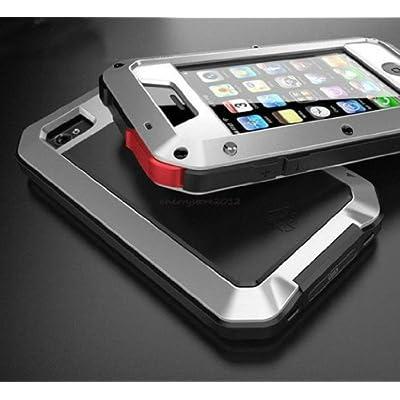 アウトドアに最適!防水・防塵・耐衝撃性を備えたアルミニウムゴリラメタルiPhone5/5s用ケース (Silver)