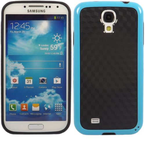Cube Carbon Gel Fall Decken Haut Für Samsung Galaxy S4 i9500 / Black Cube Carbon Blue Bumper