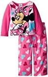 Disney Little Girls'Mouse Hearts Cozy Fleece Pajama Set