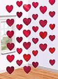 Deckenhänger mit Herzen, 200 cm, 6-Pack