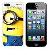 Despicable Me Minion Bob Fashion Design Hard Case Cover Skin Protector for Iphone 5 At&t Sprint Verizon Retail Packing(white Pc+pearlescent Aluminum) Ok-008