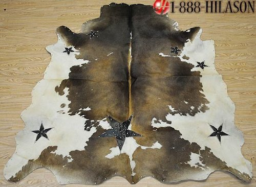Full Cowhide Natural Hair-On Leather 26 Sqft