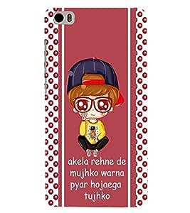 Fuson Attitude Quote Case Cover for Xiaomi Mi 5