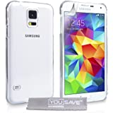 YouSave Accessories Etui en plastique pour Samsung Galaxy S5 Transparent