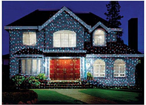 Star shower outdoor laser christmas lights star projector by bulbhead for Star shower projecteur