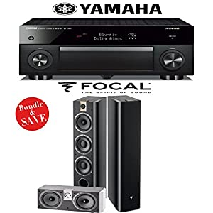 Yamaha RX-A1060BL AVENTAGE 7.2-Channel Dolby Atmos Network A/V Receiver + Focal Chorus 726 + Focal Chorus CC 700 - 3.0 High Performance Home Theater Package from Focal