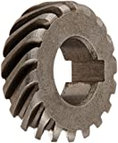 Boston Gear H2418L Plain Helical Gear, 45 Degree Helix, 14.5 Degree Pressure Angle, 0.375 Bore, 24 Pitch, 18 Teeth, Steel, LH
