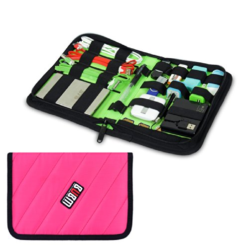 Damai Portable Electronics Accessories Organizer / Travel Organiser / Hard Drive Case/ Baby Healthcare & Grooming Kit-6 Color (Rose Red) front-738007