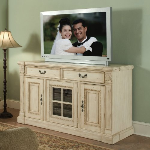 Riverside Furniture Weybridge 64 Inch TV Stand in Wellington White