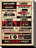 Posters: Fight Club Stretched Canvas Print - Rules Infographic (32 x 24 inches)