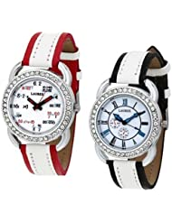 Laurex Blue Analog Leather Watches For Woman Combo-LX-035-LX-039