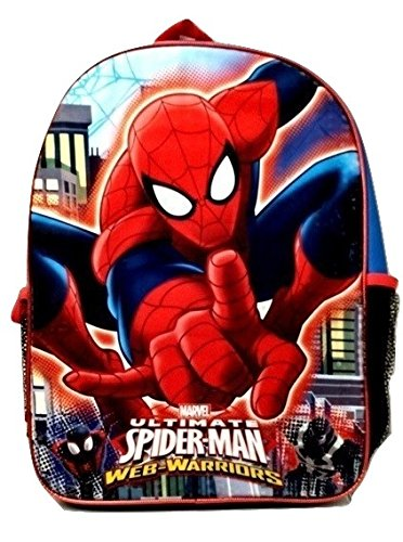 [Spiderman Marvel Action Figure Marvel Boys' Ultimate Spider man Mini Backpack 10 Inch] (Easy Homemade Mermaid Costumes)