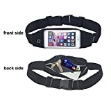 Smarco Running Belt for iphone6-4.7 inch, Keys, Cash and Credit Cards-Ideal for Jogging, Gym, Running, Workout, Hiking or Other Sports(Black)