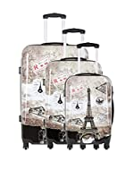 TRAVEL ONE Set de 3 trolleys rígidos Crosby (Gris)
