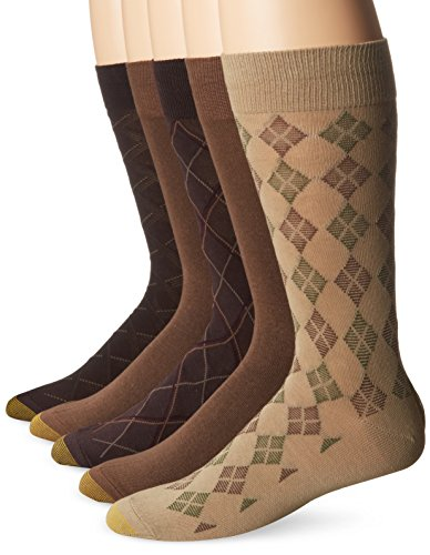 gold-toe-mens-5-pack-diagonal-plaid-fashion-brown-mocha-cork-10-13-6-12