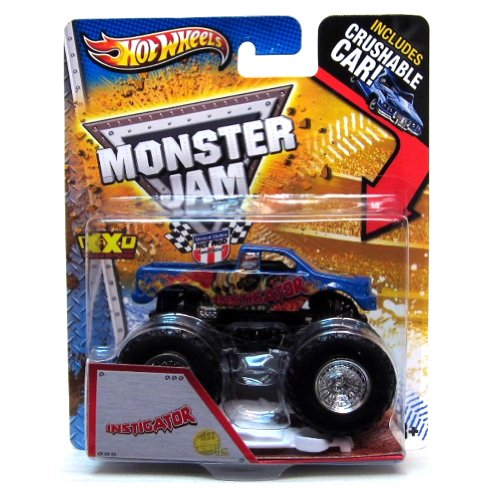 Instigator 1st Editions New Dec Hot Wheels Monster Jam Truck 1:64 w/ Crushable Car 2013 Decade of Maximum Destruction MAX-D