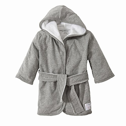 Burt's Bees Baby Organic Knit Terry Hooded Infant Robe, Heather Grey (Toddler Hooded Robe compare prices)