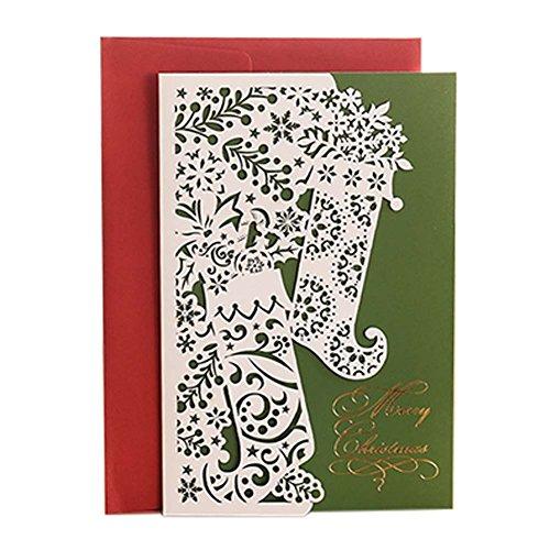3 st ck hochwertige papierschnitt weihnachtskarte. Black Bedroom Furniture Sets. Home Design Ideas