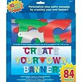 Metallic Create Your Own Large Banner Kit, 84pcs
