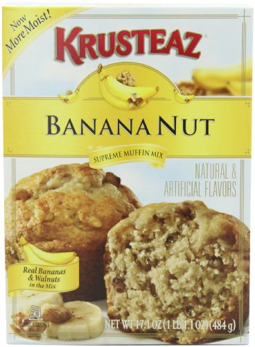 Krusteaz Banana Nut Muffin Mix, 17.1-Ounce Boxes (Pack of 12)